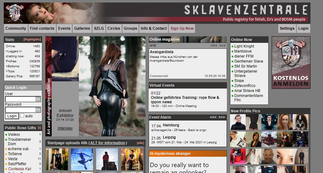 WWW.SKLAVENZENTRALE.COM - Community für D_S und BDSM